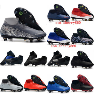 2019 mens soccer shoes Phantom VSN Elite DF SG-Pro Anti Clog soccer cleats cheap football boots