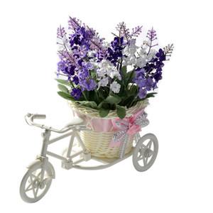 Artificiale del fiore della lavanda Home Furnishing Galleggianti decorativo biciclette Intrecciare Cestini di simulazione stabiliti del diamante fiori della lavanda