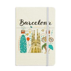 Барселона Испанский Саграда Фамилия Ноутбук Ткань Твердая Обложка Классический Журнал Дневник А5