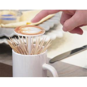 Zahnstocher Ständer Box Halter Home Supplies Nordic-Art Kreative automatischer Holzhalter Kunststoff-Zahnstocher