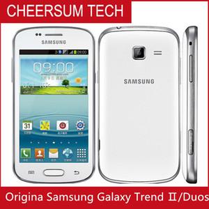 Samsung GALAXY Tendência Duos II S7572 S7562I 3G entregas 4.0 polegadas tela Android4.1 WIFI GPS Dual Core Desbloqueado