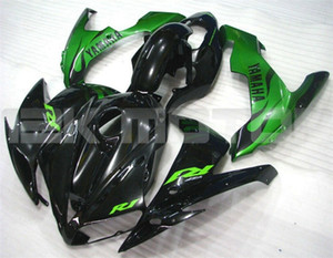New ABS moto kits Fit pour YAMAHA YZF-R1 2004 2005 2006 R1 Bodywork Carénage personnalisé gratuit Noir Vert