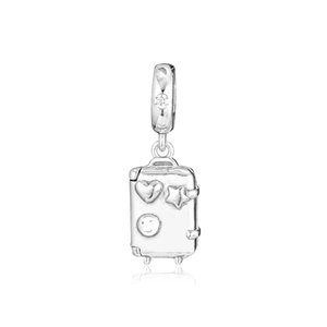 2019 Spring 925 Sterling Silver Jewelry Suitcase Hanging Charm Beads Fits Pandora Bracelets Necklace For Women DIY Making