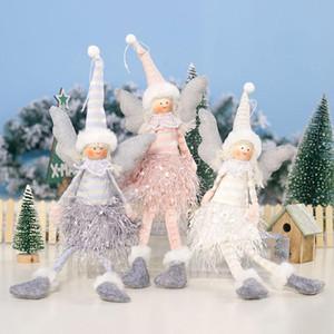 Figurine righe panno Festive Cute Christmas Party Doll regalo del pendente Ufficio Ornament Casa decorazioni Angel Girl XD22545