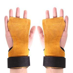 1 Par de Fitness Safty Pad Anti-slip Anti-ferrugem Apertos de Mão Pad Palm Protect Suporte De Pulso Envoltório Luvas de Treinamento de Acessórios Novo