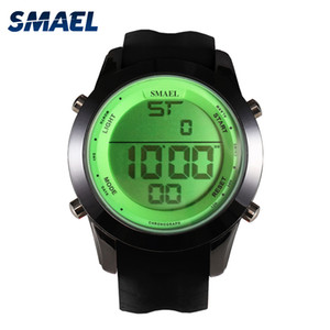2020 SMAEL Sports Watches Colorful Digital Watch LED Display Casual Watches Men Wristwatches Montre Homme Relogios Masculino 1076