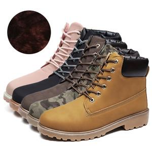 2019 artı kadife Martin botları kadın çift modelleri artı pamuk büyük ayakkabı erkekler kalın sıcak erkek ve kadın ayakkabı