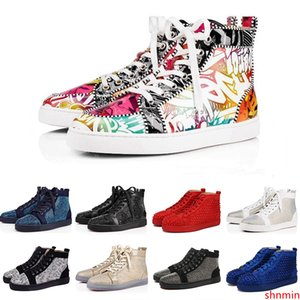2019 ACE Brand Fashion Designer Studded Spikes Flats shoes Shoes For Men and Women Party Lovers Genuine Leather Sneakers
