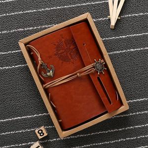 Vintage Notebook Seyahat Günlüğü Kitaplar Kraft Kağıt Dergisi Spiral Korsan bloknot Blank Notebook Ofis Okul Öğrenci Kırtasiye VT1482