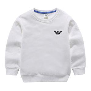 New Boys and Girls Letter Hoodie 100% algodón Camisa de manga larga Moda Espesar Suéter Casual Hoodie Camisa para niños