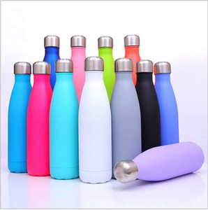 UV Cola Shaped Bottle Insulated Double Wall Vacuum Stainless Steel Water Bottle Sport Thermos Bottle Coke Cups Ourdoor Hiking Cups D492