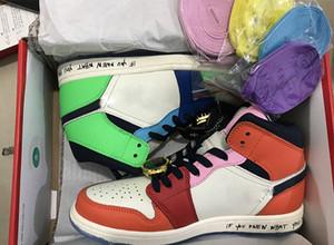 en kaliteli Melodi ehsani x OG Chicago Travis 5,5-13 ABD Sneakers eğitmenler adam Spor Ayakkabı x Orta WMNS Korkusuz Basketbol ayakkabı erkekler kadınları 1s