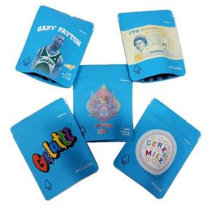 최신 쿠키 마일 라 가방 420 건조 허브 꽃 캘리포니아 김포 8 3.5G Gelatti 시리얼 우유 마일 라 가방 증거 가방을 포장 냄새