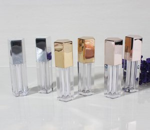9ml Empty Five Angle Rhombus Lip Gloss Tube Cosmetic Clear Lipbalm Container Gold Silver Rose Gold Makeup Vilas SN1459