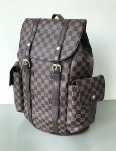 2020New Mike mochila saco de viagem pu material de grade preta backpack001 alta qualidade