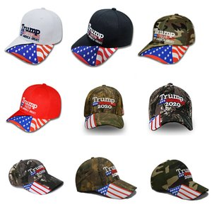 New Trump 2020 Baseball Hats Cap Designer For Keep America Great Again Women Men Casual Snapback Hat Party Cap 7Colors DHL HH9-2208