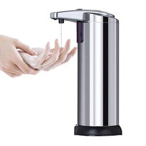 250мл Автоматический датчик мыла дозаторы жидкого мыла Портативный нержавеющей стали инфракрасный датчик мыла ZZA2278 200Pcs