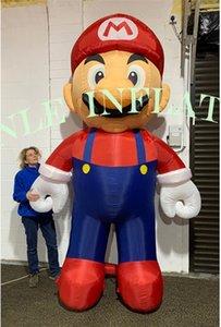 Оригинальный дизайн рекламируя Раздувные фигурки мультфильма Супер Марио и Луиджи талисмана для украшений