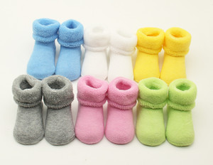 Baby Socks Newborn Socks Girl Boy Winter Warm Soft Cotton Socks bebe skarpetki calcetines 6Colors 6pairs lot