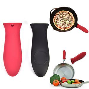 Starke Wärmebeständigkeit Silikon-Gummi-Pot Pan Griff Halter Saucepan Griffhaube