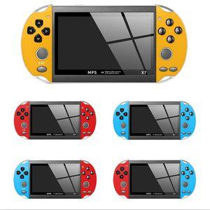 5 Color 8GB X7 Plastic Entertainment 4.3 Inch Dual Rocker Handheld USB Video Game Console Rechargeable TV Output VS X7 Plus
