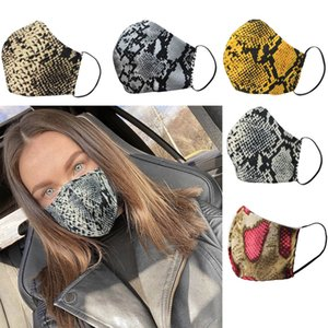 Snake Camo Anti Dust Face Mouth Cover PM2.5 Mask Respirator Dustproof Washable Reusable Can put Filter Piece Masks 5 Colors