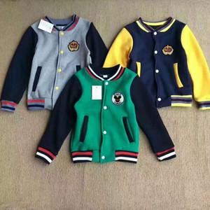 Vêtements enfants Automne et des sports d'hiver pour enfants garçons Veste baseball et filles ensemble Color Plus Cachemire Enfants Veste