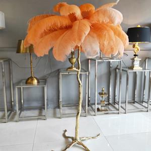 American floor lamp  copper feather branch floor lamp hotel beauty lighting gold living room standing light H160xD120cm