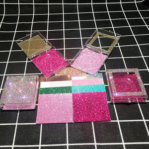 Glitter Elmas 3D Yanlış Eyelashes kılıflar Vizon Kirpikler Kutular Eyelashes olmadan Boş Lash Vaka Bling Glitter Kirpik Box Packaging