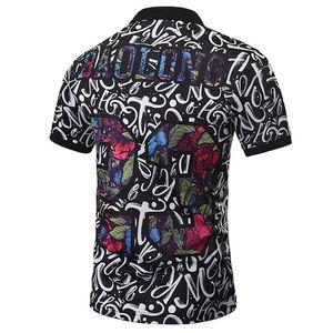 Polos Hommes Paisley Fleurs Shirt Print Skulls Hauts Hommes Polos Été Mode Designer Polos Hommes Jolis