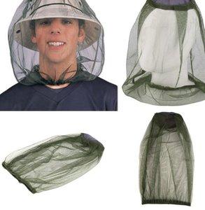 Mosquito cabeça líquido não incluindo chapéu de resistência do mosquito inseto Bee Net Mesh Head face Protector Mosquito Insect boné KKA7866N