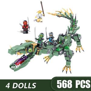 574PCS Pequenas Building Blocks Brinquedos Compatível com Legoing Ninja Voar presente do dragão para meninas meninos crianças DIY