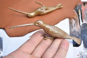 Solid Brass Bird Ornament Table Car Decoration Ornament