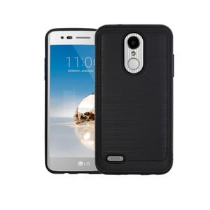 LG K6P Ms210 10 20 Volt3 X 스타일 스킨 Ls676 K200 tribute HD Lv3 5 닦았 금속 질감 디자인 내구성 하이브리드 충격 흡수 케이스