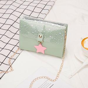 Звезда Подвеска плечо 2020 летней женщины Crossbody сумка Новый Посланник пришивание площадь Sling Bag Сладкая леди Малая площадь