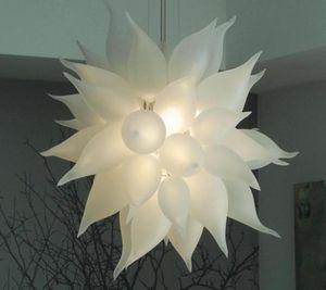 Nova Rodada Criativa LED candelabro de cristal luzes brancas Casamento Casa decorativa Suspensão luminária Mão vidro fundido Candelabro Iluminação