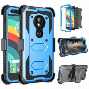 Pour Motorola G4 G5 G6 G7 puissance du G8 E4 E6 G5s plus Jouer Defender Holster Clip ceinture Béquille Heavy Duty de protection anti-choc Phone Case Cover