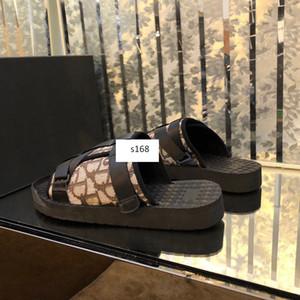 MEJOR CALIDAD Hombres NEGRO ALPHA Sandalia en OBLICUO JACQUARD verano Hombres zapatillas de suela de goma cómodo de nylon