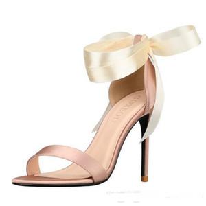2020 Designer Schuhe Hochzeit Sandalen Schuhe 10cm High Heels Brautschuhe Riemen Günstig In Stock Frauen Mädchen Prom Party Abendkleid Pumps