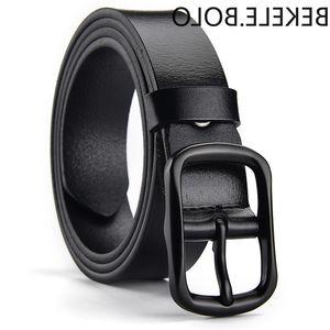 Hot Sale Ins Women's Belt Cowhide Luxury Black Pin Buckle Belt Ladies Fashion High Quality Designer Belts for Women