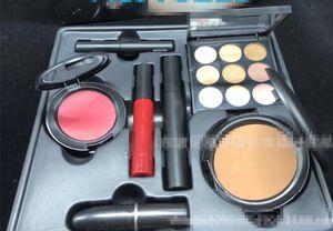 Fashion Marke Makeup-Geschenk-Set 7 in 1 Matte Lippenstift + Lidschatten + Flüssiges Lip Gloss + Blush + Fix Face Set Makeup Kit mit Box Geschenk Hot Kit