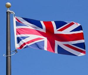 UK Flagge 3 * 5ft Country Flag Das Vereinigte Königreich Nationalflaggen Hanging Banner Flagge England Britische Großbritannien Zuhause-Party-Dekoration 90 * 150CM