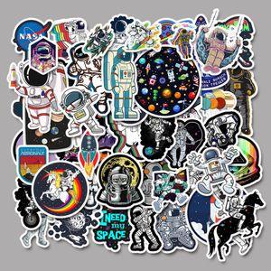 Dizüstü Kaykay Pad Bisiklet Motosiklet PS4 Telefon Bagaj Çıkartması Pvc gitar Stickers için 50 ADET Karışık Araba Etiketler Uzay Astronot Evren
