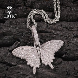TBTK Small Animal Butterfly Pendant Chain Necklaces For Women Or Men Hot Sale Clavicle Necklaces Jewelry Birthday Present