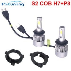 LED farol do carro Lâmpadas com H7 do bulbo Titular Adaptador Clipe base de retenção para KIA Sportage para Santa Fe Sonata