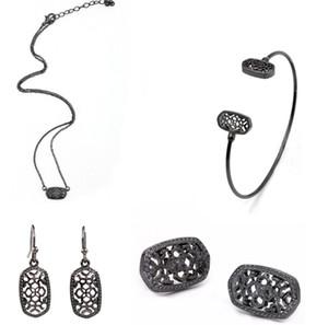 Mode-kleine nette Geometric Filigree Oval-Bolzen-Ohrringe