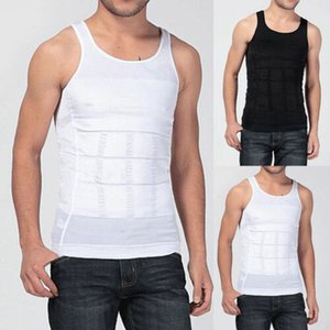 Los hombres adelgazan la talladora del cuerpo de la panza vientre graso de la ropa interior del corsé del chaleco sin mangas Fajas O-Cuello caliente