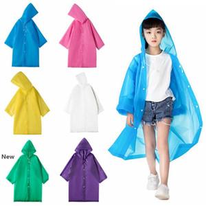 Réutilisable Raincoat avec Camping Hat enfants Voyage Must Rainwear EVA unisexe Impermeable Mode Convient aux enfants 90-150cm HHA1263