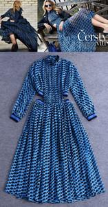 Moda stile Premium Top Quality Design originale Design Elegante Abito Midriff Costume da donna Sexy Stampa Pieghe