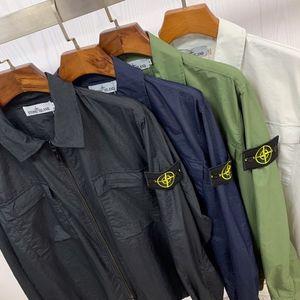 스톤 2020 새로운 고전 나침반 로고 완장 섬유 나일론 더블 가방 재킷 섬 코트 M-XXL